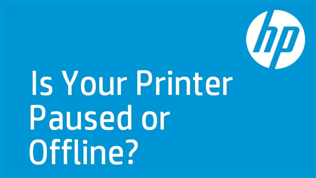 Is Your Printer Paused or Offline?