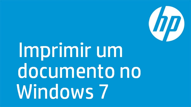 Imprimir um documento no Windows 7