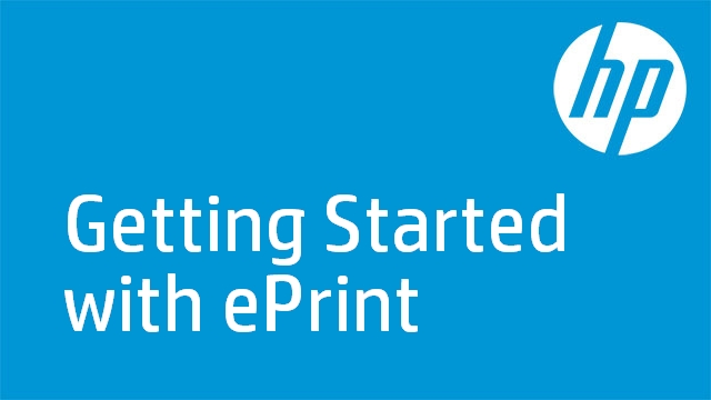 Getting Started with ePrint - Photosmart D110a