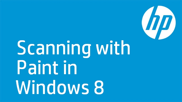 Scanning with Paint in Windows 8