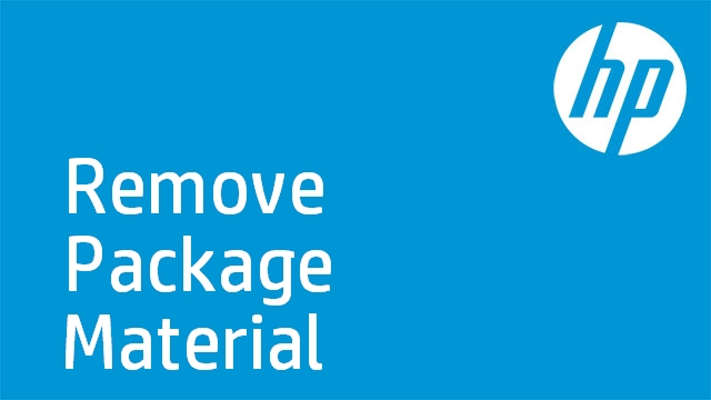 HP Laserjet: Remove Package Material