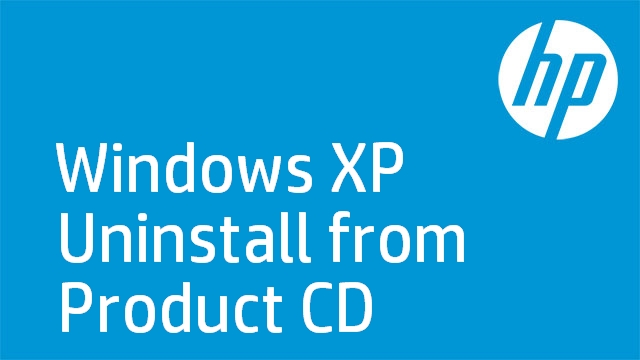Windows XP Uninstall from Product CD