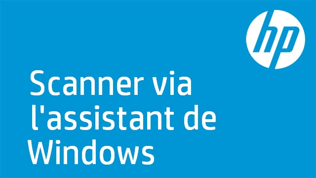 Scanner via l'assistant de Windows