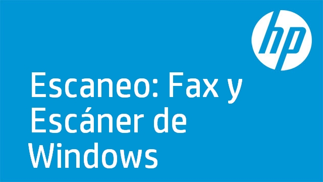 Escaneo: Fax y Escáner de Windows