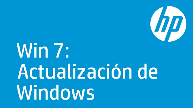 Win 7: Actualización de Windows