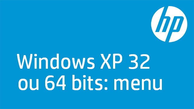 Windows XP 32 ou 64 bits: menu