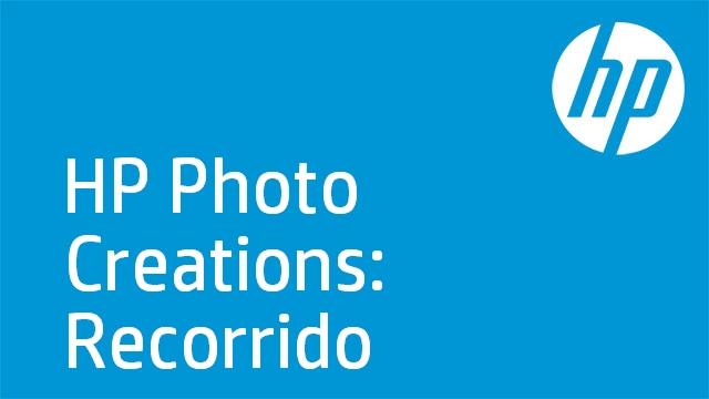 HP Photo Creations: Recorrido