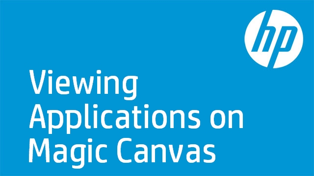 Viewing Applications on Magic Canvas