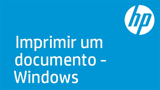 Imprimir um documento - Windows