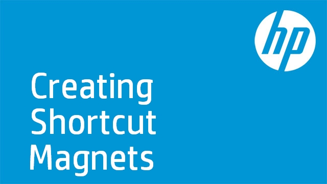 HP TouchSmart 4.0-Creating Shortcut Magnets