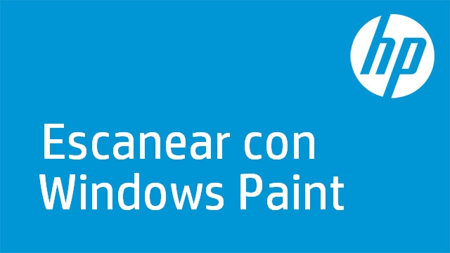 Escanear con Windows Paint