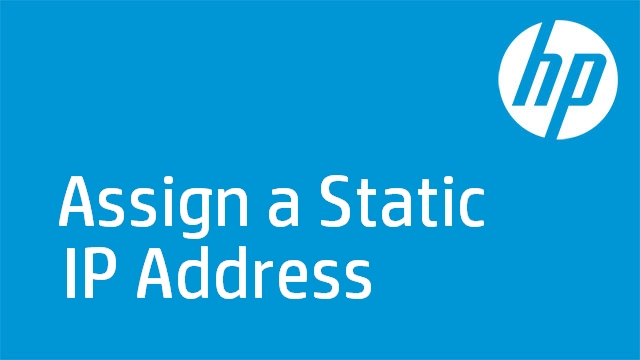 Assign a Static IP Address