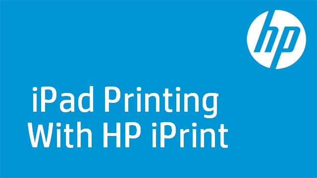 iPad Printing With HP iPrint