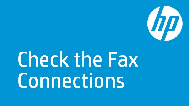 Check the Fax Connections