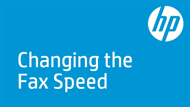 Changing the Fax Speed - HP LaserJet Pro M1212nf Multifunction Printer