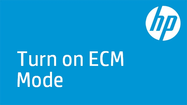 Turn on ECM Mode