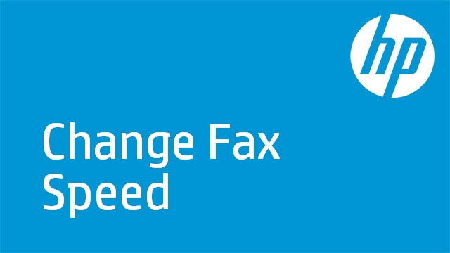 Change Fax Speed