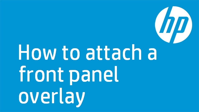 How to attach a front panel overlay
