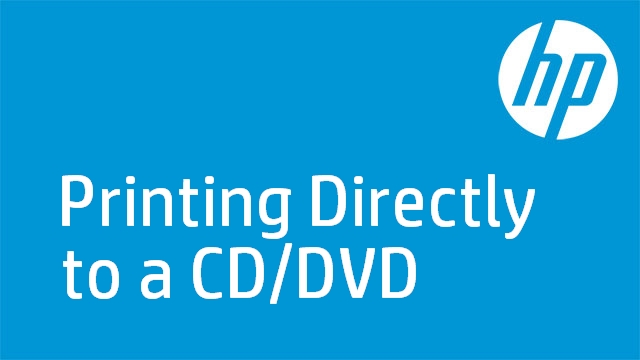 Printing Directly to a CD/DVD