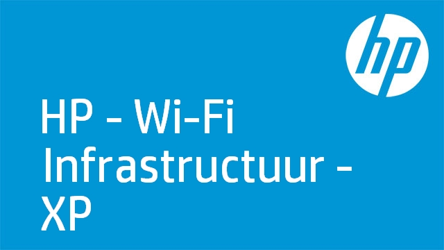 HP - Wi-Fi Infrastructuur - XP