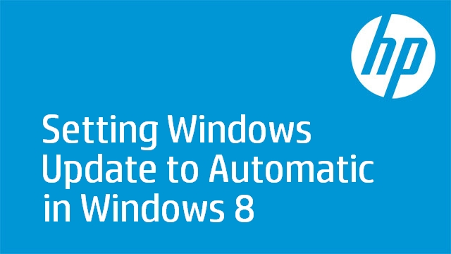 Setting Windows Update to Automatic in Windows 8