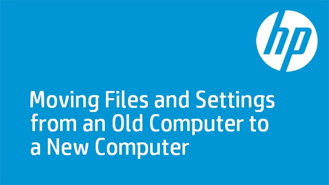 Moving files from an old computer