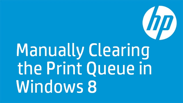 Manually Clear the Print Queue in Windows 8