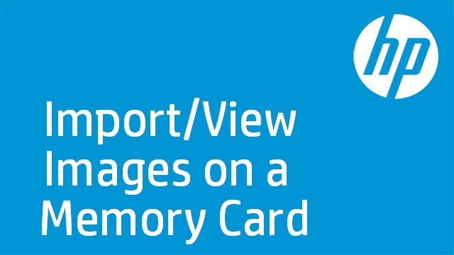 Import/View Images on a Memory Card