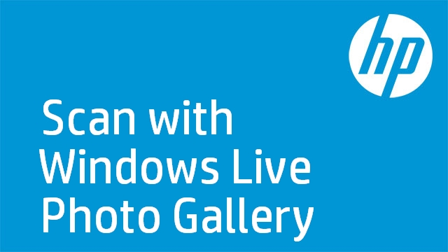 Scan with Windows Live Photo Gallery