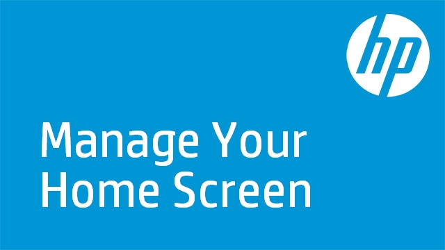 Manage Your Home Screen