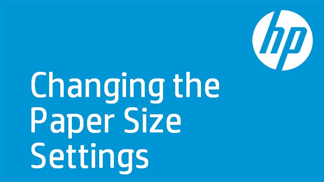 Changing the Paper Size Settings