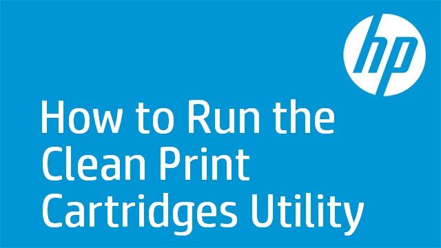 How to Run the Clean Print Cartridges Utility - HP Deskjet F4180 All-in-One Printer