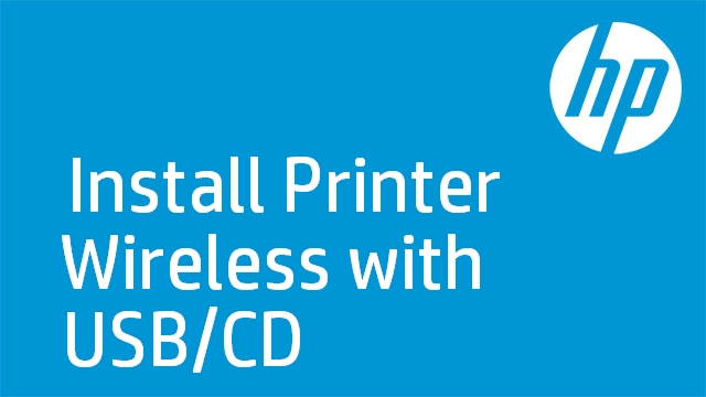 Install Printer Wireless with USB/CD