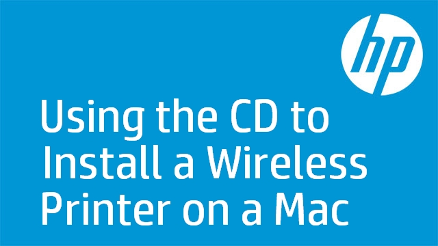 Using the CD to Install a Wireless Printer on a Mac - HP LaserJet Pro M1217nfw