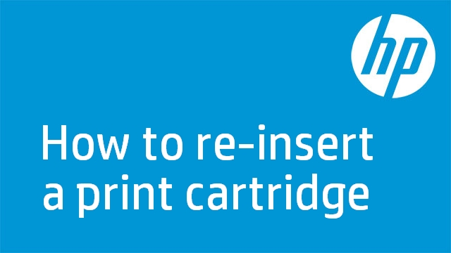 How to re-insert a print cartridge