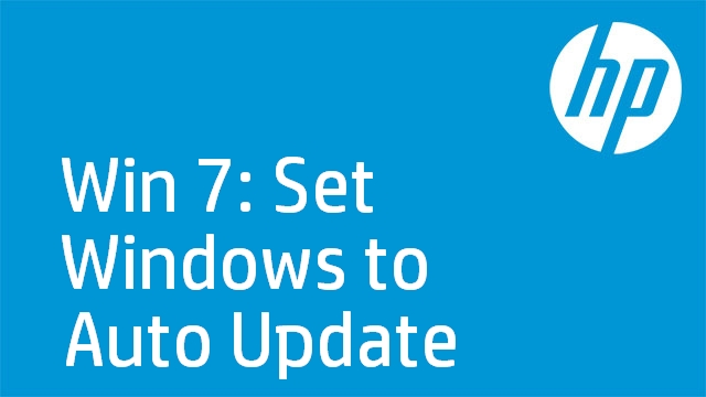 Win 7: Set Windows to Auto Update