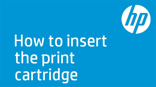 How to insert the print cartridge