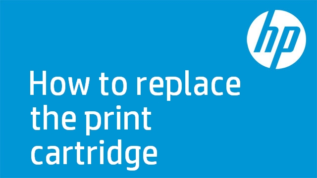 How to replace the print cartridge