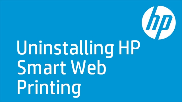 Uninstalling HP Smart Web Printing