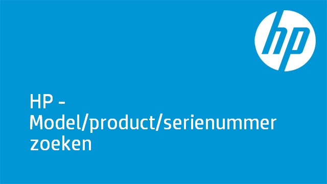 HP - Model/product/serienummer zoeken
