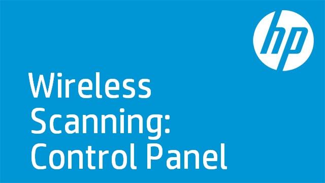 Wireless Scanning: Control Panel
