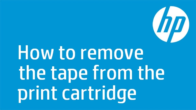How to remove the tape from the print cartridge