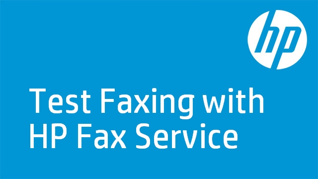 Test Faxing with HP Fax Service