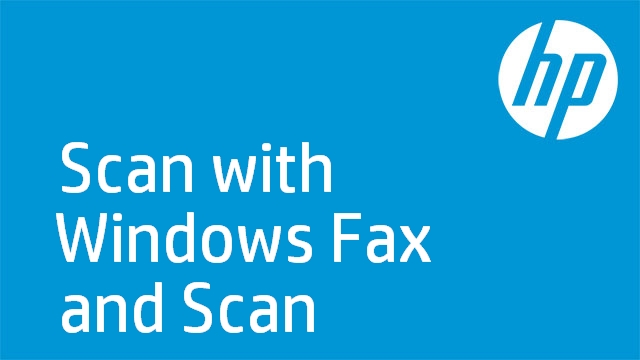 Scan with Windows Fax and Scan