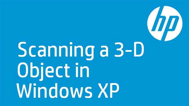 Scanning a 3-D Object in Windows XP - HP TopShot LaserJet Pro M275 MFP