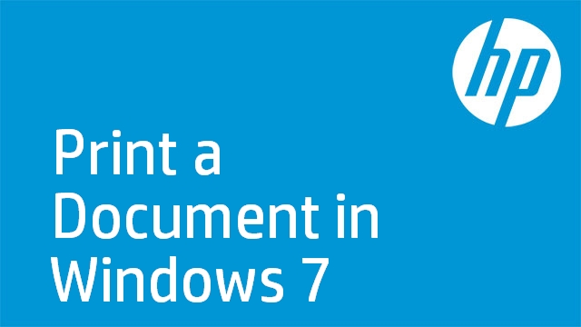 Print a Document in Windows 7