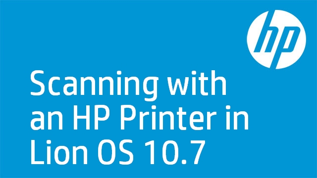 Scanning with an HP Printer in Lion OS 10.7