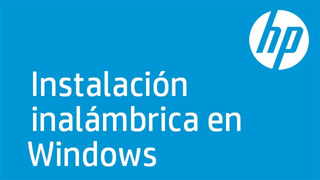 Instalación inalámbrica en Windows