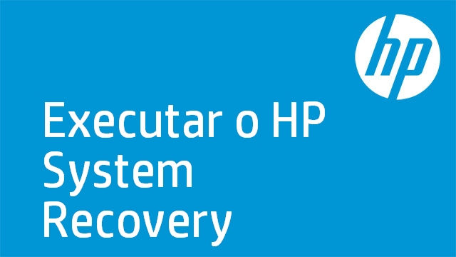 Executar o HP System Recovery