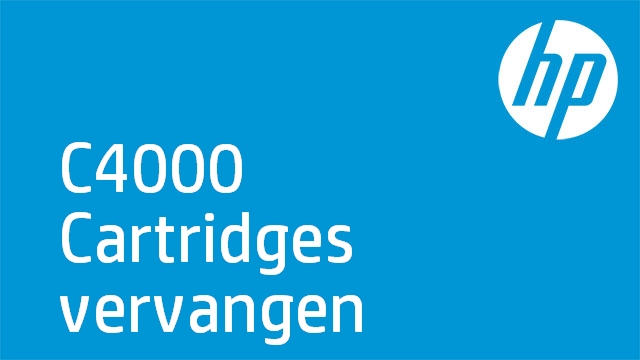 C4000 Cartridges vervangen